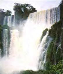 Реки Амазонка Парана Ориноко и озера Титикака Южной Америки  Рис 115 Водопад Игуасу